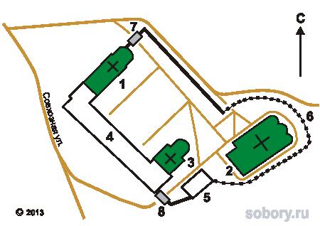 План-схема Косьмо-Яхромского