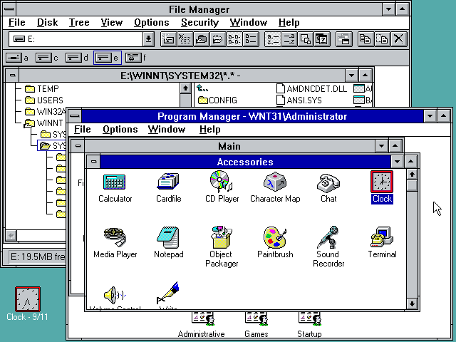 Windows nt 3 1 for Window 3 nmat