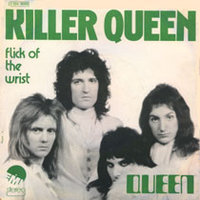 Обложка сингла «Killer Queen/Flick of the Wrist» (Queen, 1974)