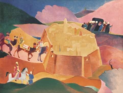 «Похороны Фирдоуси». Картина Газанфара Халыкова, 1934 год