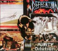 Обложка альбома Defecation «Purity Dilution» (1989)