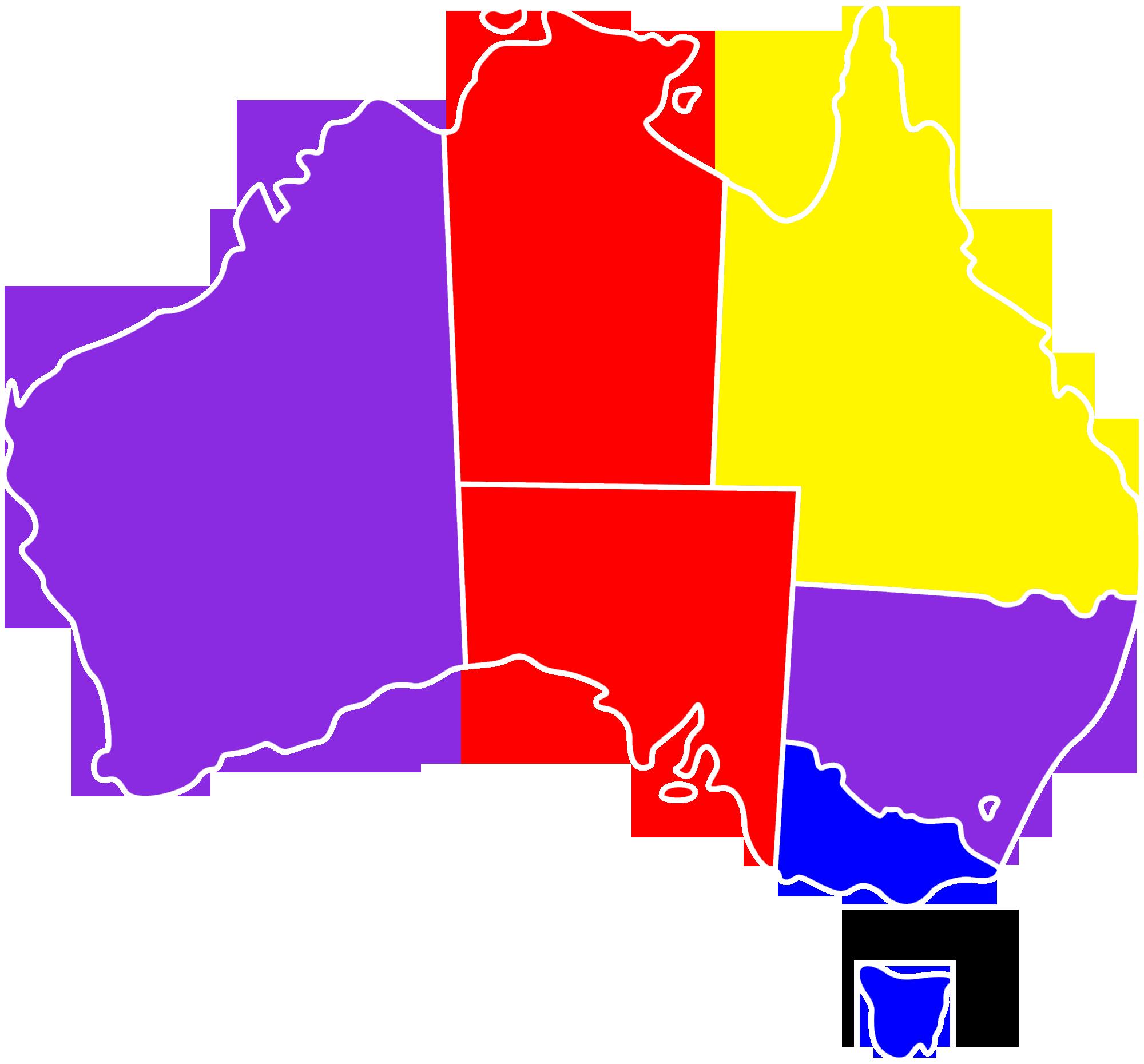 Australia Map Png.Fajl Lgbt Australia States Map Png Vikipediya