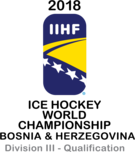 2018 IIHF World Championship Division III qualification Logo.png