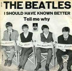 Обложка сингла The Beatles «Tell Me Why» (1964)