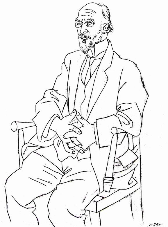Карикатура на Эрика Сати (1920)