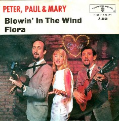 Обложка сингла Peter, Paul and Mary «Blowin' in the Wind» (1963)