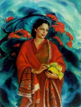 «Девика Рани Рерих». 1951. Государственный музей Востока