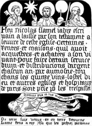 Надгробная плита Николя Фламеля