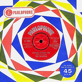 Обложка сингла The Beatles «Please Please Me» ()