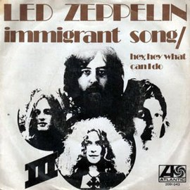 Обложка сингла Led Zeppelin «Immigrant Song» (1970)