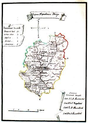 карте Харьковского уезда