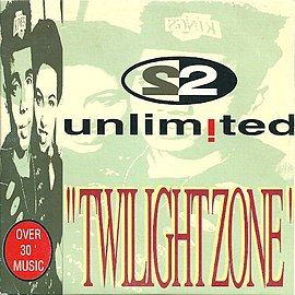 Обложка сингла 2 Unlimited «Twilight Zone» (1992)