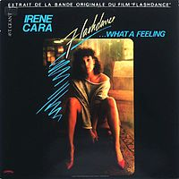 Обложка сингла «Flashdance… What a Feeling» (Irene Cara, 1983)