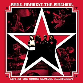 Обложка альбома Rage Against the Machine «Live at the Grand Olympic Auditorium» (2003)