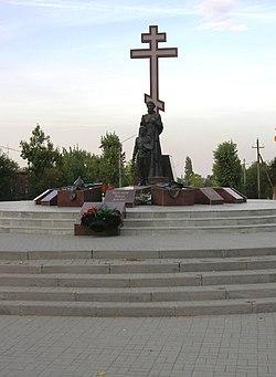 Эконом памятник Волна Белая Калитва Памятник Роза из двух видов гранита Арск