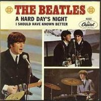Обложка сингла «A Hard Day's Night» (The Beatles, 1964)