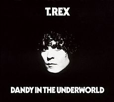Обложка альбома T. Rex «Dandy in the Underworld» (1977)