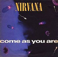 Обложка сингла «Come as You Are» (Nirvana, 1992)