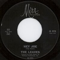Обложка сингла «Hey Joe, Where You Gonna Go?» (The Leaves, 1965)