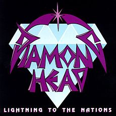Обложка альбома Diamond Head «Lightning to the Nations» (1980)