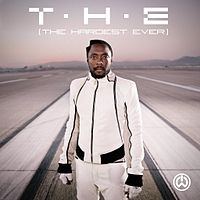 Обложка сингла «T.H.E. (The Hardest Ever)» (will.i.am при участии Мика Джагерра и Дженнифер Лопез, 2011)