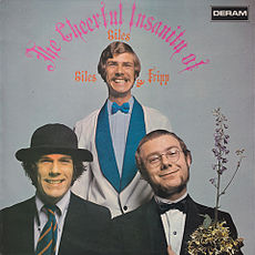 Обложка альбома «Giles, Giles and Fripp» «The Cheerful Insanity of Giles, Giles and Fripp» (1968)