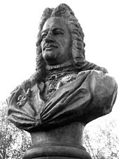 Aleksandr Danilovich Menshikov (bust at Kolpino) bw local.jpg