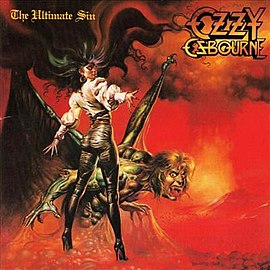 Обложка альбома Ozzy Osbourne «The Ultimate Sin» (1986)