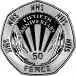 1998 NHS Commemorative 50p coin
