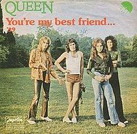Обложка сингла «You're My Best Friend» (Queen, 1976)