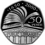 1998 Public Libraries Commemorative 50p coin