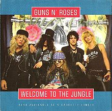 Обложка сингла «Welcome to the Jungle» (Guns N' Roses, 1988)