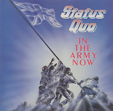 Обложка альбома Status Quo «In the Army Now» (1986)
