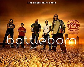 Обложка сингла Five Finger Death Punch «Battle Born» (2013)