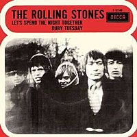 Обложка сингла «Ruby Tuesday» (The Rolling Stones, 1967)