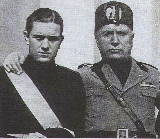 Бруно и Бенито Муссолини