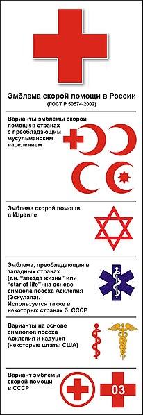 Файл:Эмблемы скорой помощи в странах мира.jpg