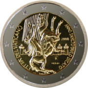 €2 commemorative coin Vatican City 2008.png
