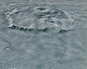 Панорама Олимпа с зонда «Марс Экспресс», 2004