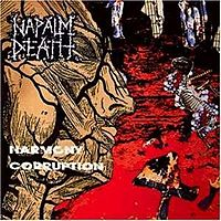 Обложка альбома Napalm Death «Harmony Corruption» (1990)