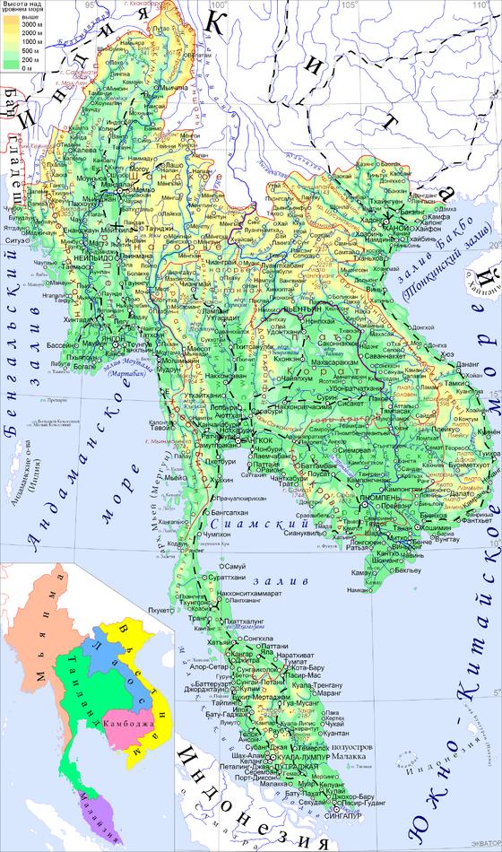 Где находиться индокитай на карте