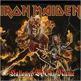 Обложка сингла Iron Maiden «Hallowed Be Thy Name (live)» (1993)