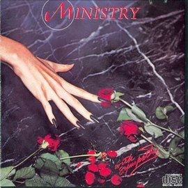Обложка альбома Ministry «With Sympathy» (1983)