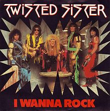 Обложка сингла «I Wanna Rock» (Twisted Sister, 1985)