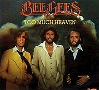 Обложка сингла «Too Much Heaven» (Bee Gees, 1978)