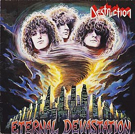 Обложка альбома Destruction «Eternal Devastation» (1986)