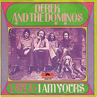 Обложка сингла «Layla» (Derek and the Dominos, 1971)