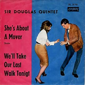 Обложка сингла Sir Douglas Quintet «She's About a Mover» (1965)