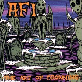 Обложка альбома AFI «The Art of Drowning» (2000)