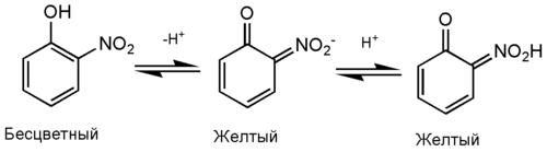 Нитрофенол таутомерия.png